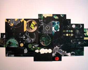 Nerdy science art - computer games art - mosaic art - customizable art - painting extra large art - contemporary art modern art custom art
