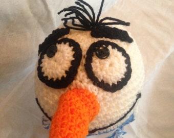 Crochet Olaf Beanie with Ear Flaps