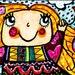 Little Girl Print, Girl's Bedroom Decor,Yellow And Blue, Girls Wall Art, Art For Children, Whimsica Art, Kite Flying by Paula DiLeo_
