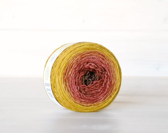 Hand Dyed Gradient Yarn - 100% Wool - Color:Maple Ombre - 1Ply Sport Yarn - Colorful Soft Yarns by Freia - Gorgeous Wool Yarns - Ombre Yarns
