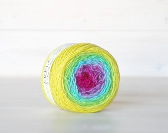 Hand Dyed Gradient Yarn - 100% Wool - Color: Hard Candy Ombre - 1Ply Sport Yarn - Colorful Soft Yarns by Freia - Gorgeous Wool Yarn