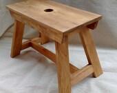 Wooden Stool, Step, Crackett