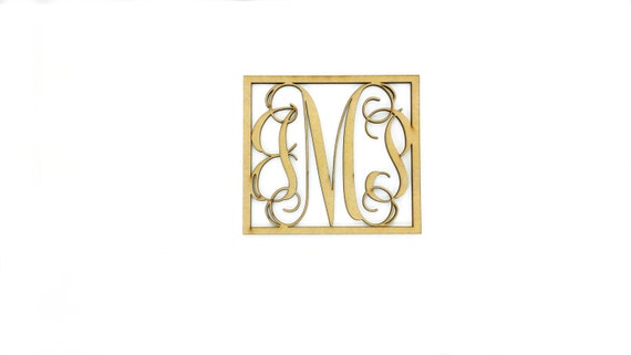Wooden monogram for wall wooden letters for wall cutouts for Large wooden letter patterns