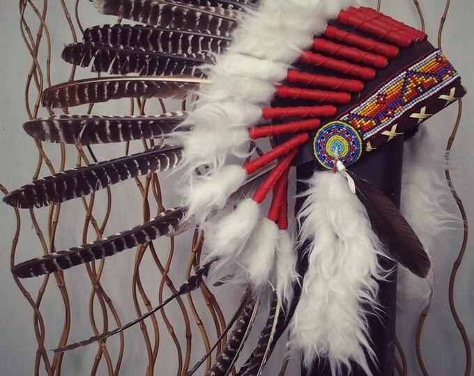 X27 natural colour turkey Feather Headdress  / Warbonnet..