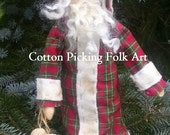 Primitive Father Christmas Ornament Doll