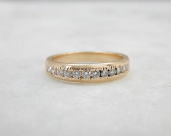 Bright Diamonds And Yellow Gold Wedding Band 33Z228-R