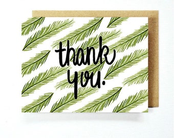 Thank You Card - Palm Leaves Card Set