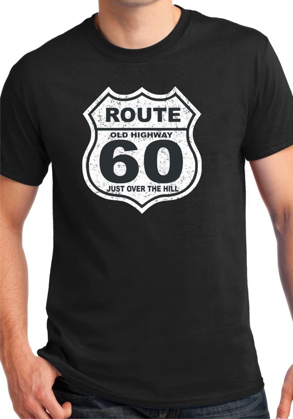60th birthday gift 60 years old over the hilltee t shirt. Black Bedroom Furniture Sets. Home Design Ideas