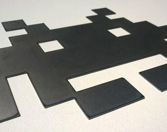 Space Invader Alien Inspired Metal Sign