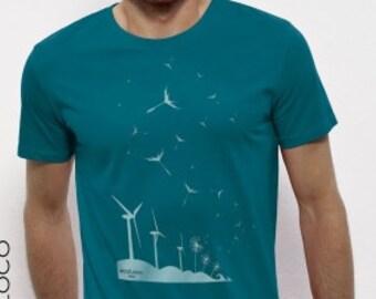 SEEDS of THE FUTURE organic cotton xtra soft wind turbine print
