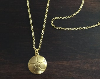 soccer necklace, soccer, soccer pendant, soccer jewelry, gold soccer necklace, gold soccer pendant, gold necklace, necklace, jewellery