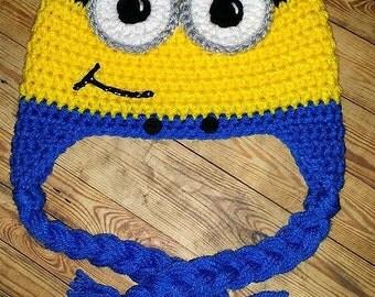 Minion Crochet Hat