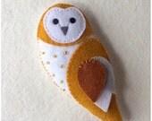 Barn Owl Feltie pdf Sewing Pattern