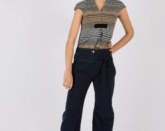 Art 36/15 30% SALE Pantalone Ceruleo. Made in Italy, Sartorial, Summer, Elegant, flawless, masculine cut.