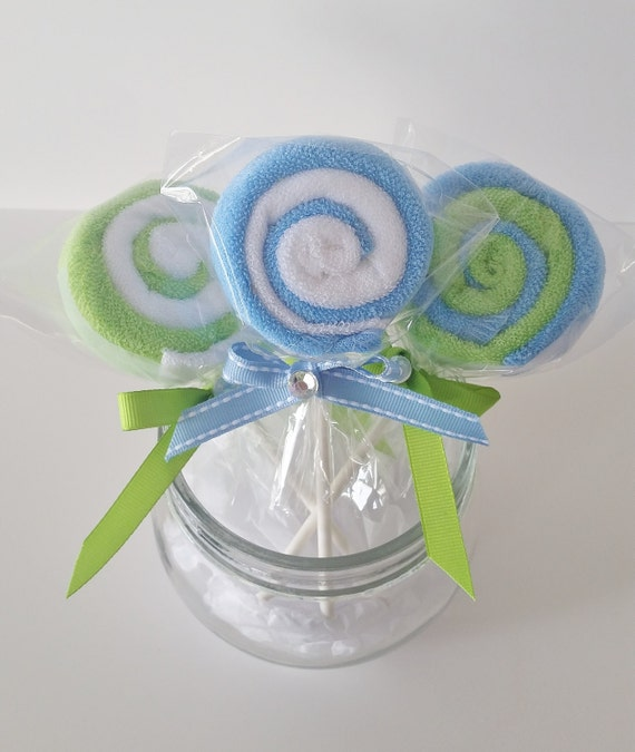 washcloth lollipops baby washcloth gift baby boy shower favors new