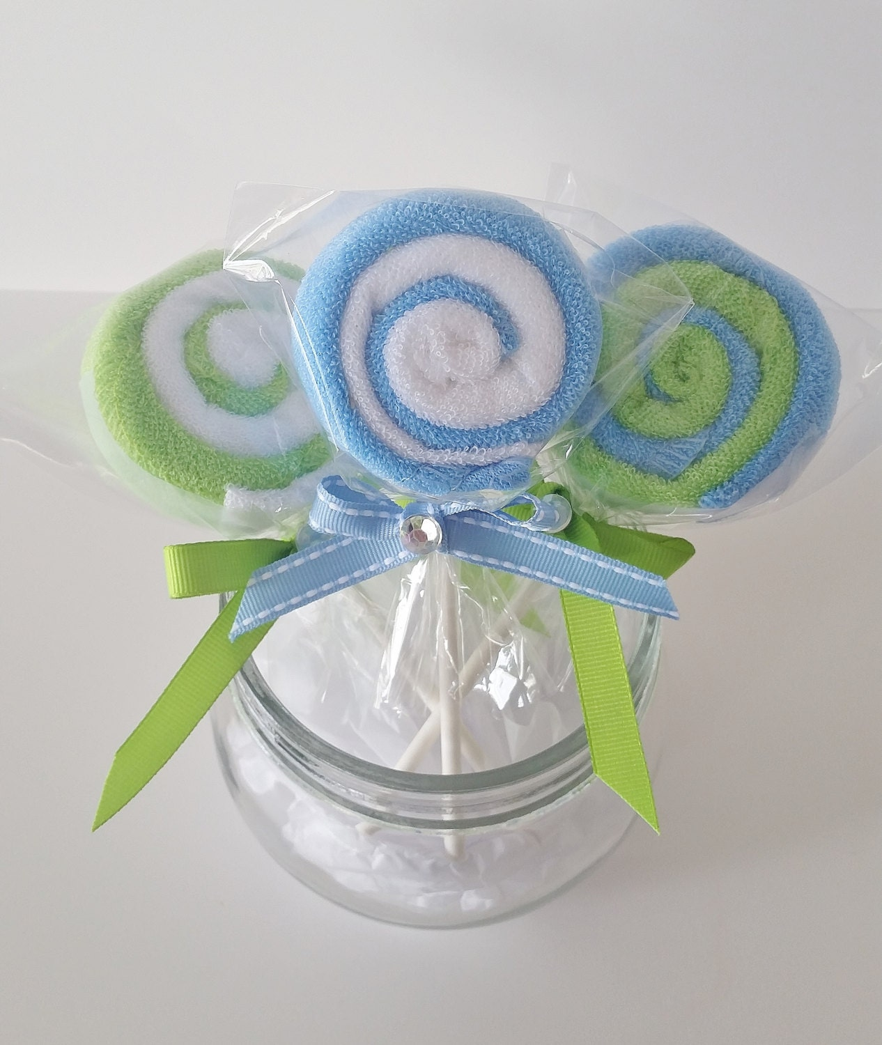 washcloth lollipops baby washcloth gift baby boy shower