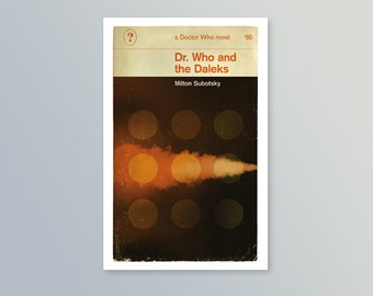 Doctor Who | Dr. Who & The Daleks | Penguin-style book cover postcard