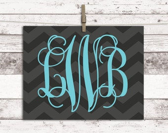 Chevron Teen Room Decor   Teen Room Ideas   Teen Girl Room Ideas    Monogrammed Gifts