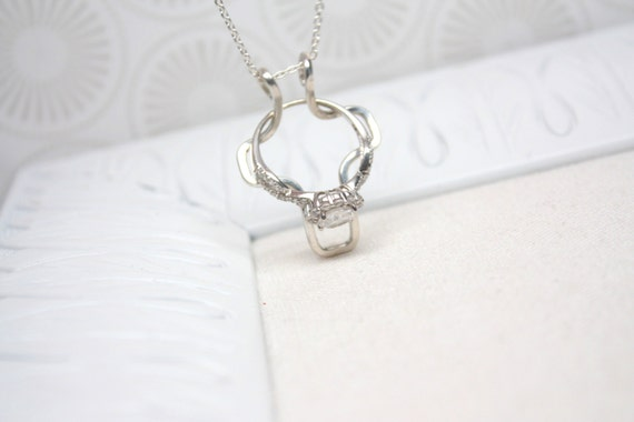 cross ring holder necklace wedding engagement by