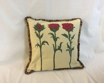 12x12 Decorative Yellow or Red Flower Pillow Cover