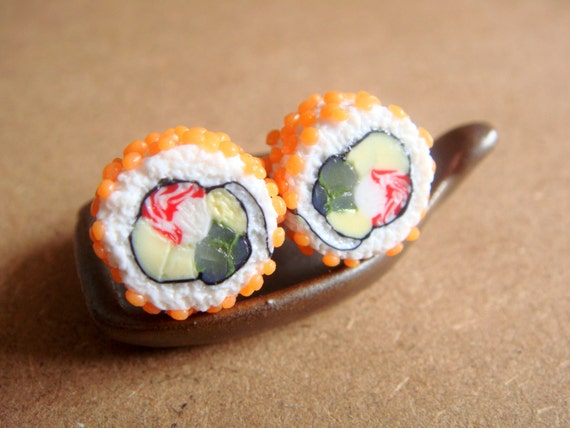 California roll earrings