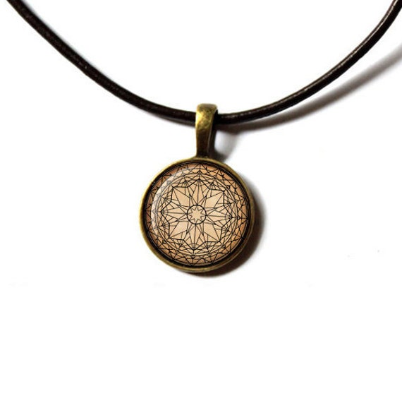 Buddhist pendant sacred geometry jewelry flower mandala for Zen culture jewelry reviews