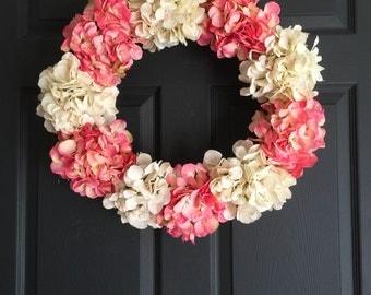 Wreaths   Door Wreath Elegance Collection   Spring Wreath   Hydrangea Wreath   Front Door Wreaths   Wall Decoration   Hostess Gift