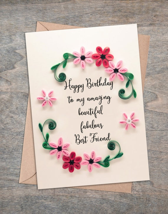 Best Friend Birthday Card Girlfriend Birthday Card Happy – A Birthday Card for a Best Friend