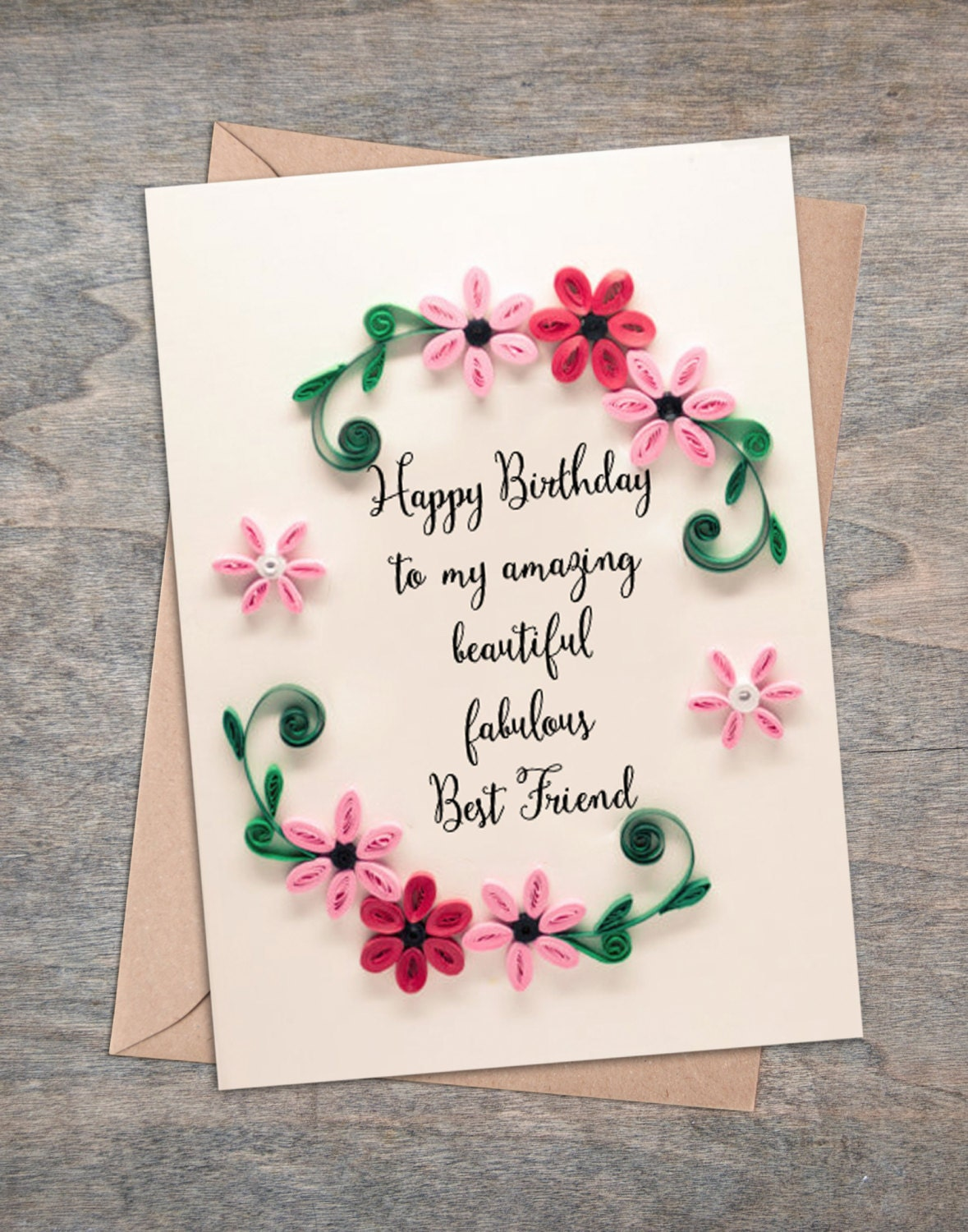 Best Friend Birthday Card Girlfriend Birthday Card Happy – Happy Birthday Cards for a Friend