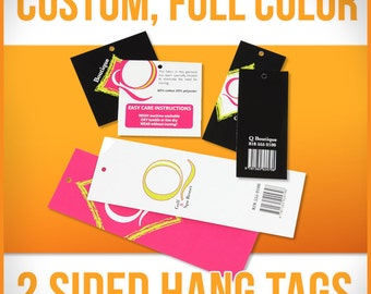Hang Tags - Custom Printed, Full Color, 2 Sided