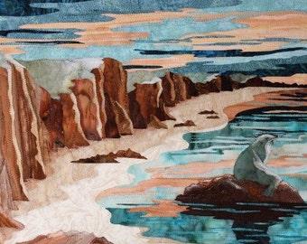 """Textile Art """" Au gré des Marées"""""""