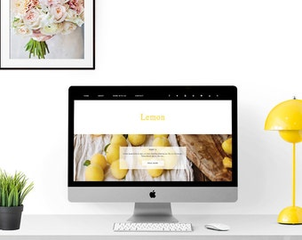 Premade  blogger template |Responsive blogger blog theme - Lemon|Elegant, minimal blog template |Photography blogger template with slider