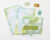 """Stationery Set - """"Valley of Scallops"""" - 5 Envelopes & 10 Writing Sheets"""