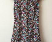 1960s Style Floral Mod Mini Dress S