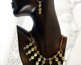 Egyptian Collar Necklace, Cleopatra Necklace, FREE Matching Earrings with purchase!