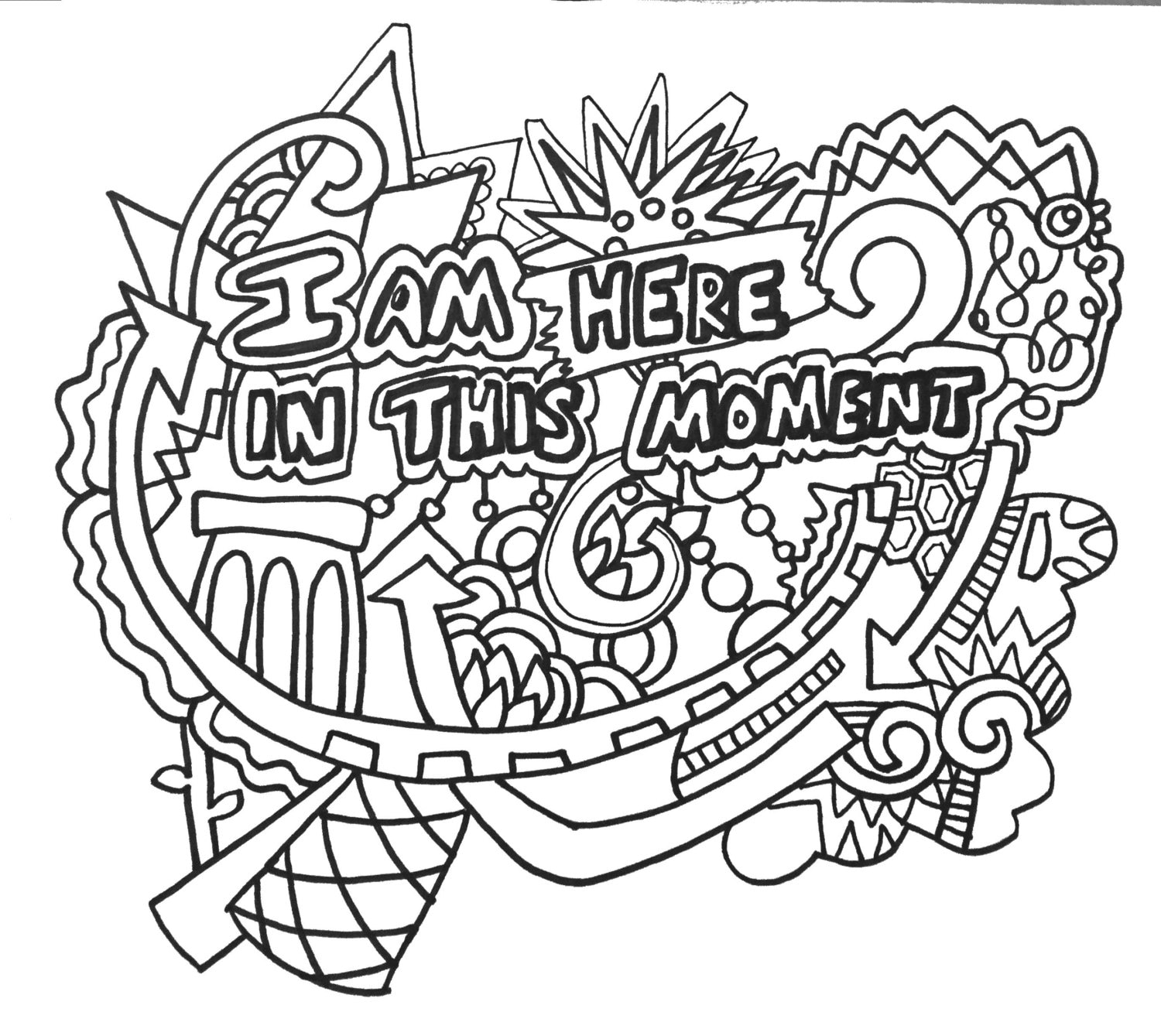 Coloring Pages For Adults: 12 Empowering Affirmations ColoringPages Vol.1 Original Art