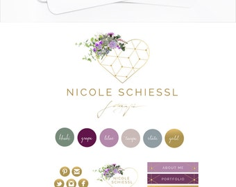 Custom Logo Design Business Logo Design Hand Drawn Painted Logo