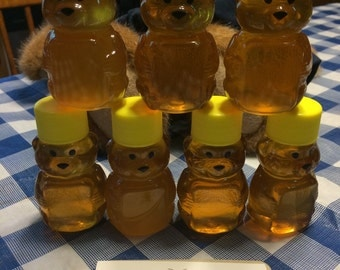 10 Sweet 2oz Honey Bear Party Favors Including Our Raw Honey~!