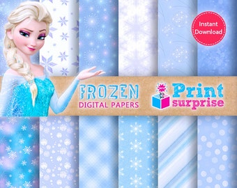 Frozen Digital Papers for INSTANT DOWNLOAD!