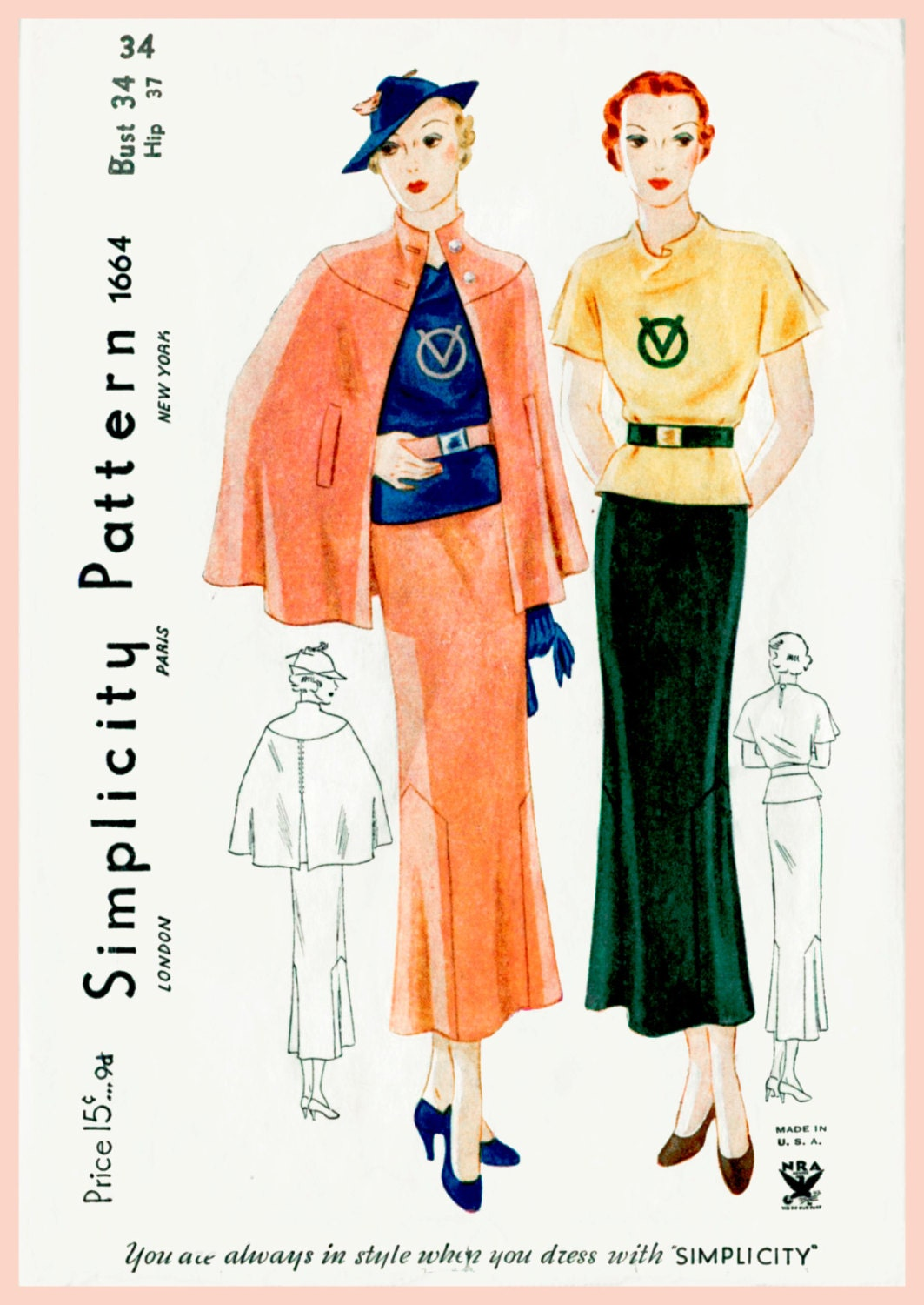 Vintage sewing patterns reproductions choice image craft 1930s dress pattern skirt blouse cape vintage sewing pattern 1930s dress pattern skirt blouse cape vintage jeuxipadfo Choice Image