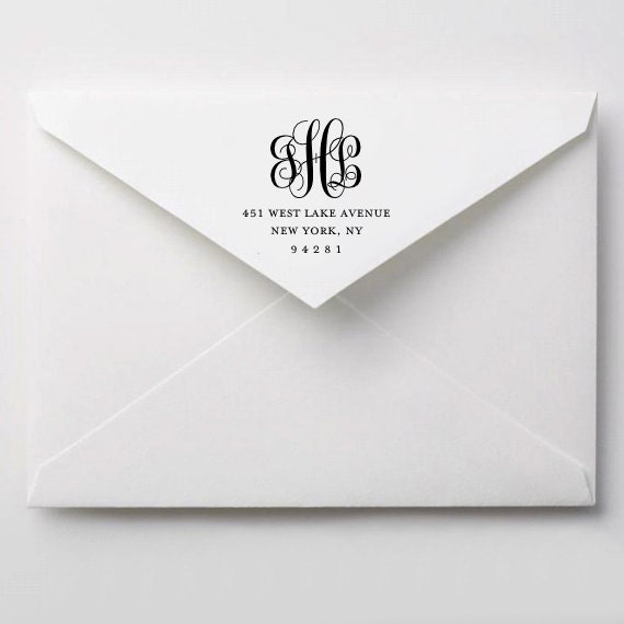 Printable Wedding Envelope Addressing DIY Return Address