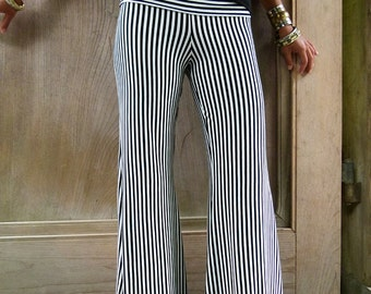 Miracle Worker Pants  -  Wide Leg  -  Stripes