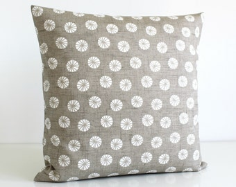 Decorative Pillow Cover, Cushion Cover, 16 Inch Pillow Case, 16x16 Throw Pillow cover, Pillow Sham - Fossil Taupe