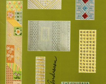 PULLED WORK PROJECTS Leisure Arts #96 Pattern Booklet 1970s Stitches on Canvas