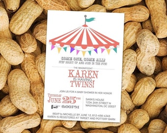 Circus Invitation, Circus Party, Big Top Invitation, Circus Shower