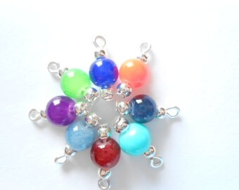 New Colors! Glass Druk Dangle Beads