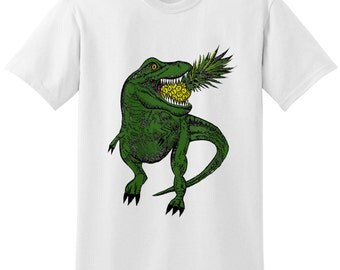 Dinosaur T-Rex Pineapple Unisex T-shirt Top