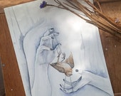 Witchcraft - Original Watercolor Painting. Exclusive Original Art. One of a kind artwork Home decor Watercolour OOAK