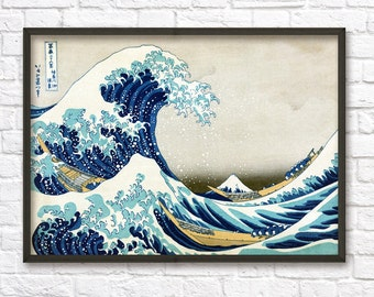 Superbe Great Wave Off Kanagawa Mount Fuji Japanese Wall Art Poster   Oriental Home  Decor   Japanese