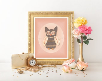 Owl Decor, Nursery Printable, Owl Printable, Owl Decor, Owl Digital Download, Owl Decor, Owl, Nursery Owl, Nursery Art, Owl Nursery Art 0108